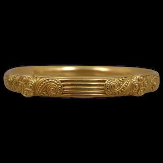 14k Art Nouveau Slip-On Bangle Bracelet