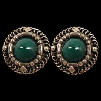 Georg jensen Sterling Large Chalcedony Earrings