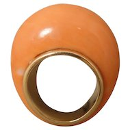 Modernist Coral Dome 14K Ring
