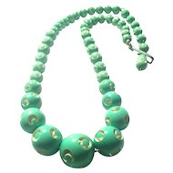 Carved Galalith Necklace made in France