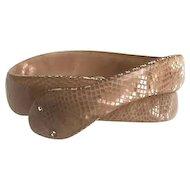 Lea Stein Cellulose Acetate Snake Bracelet