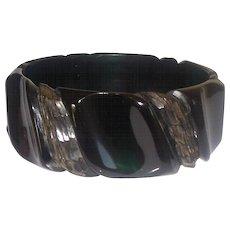 Bakelite Bangle Bracelet  Heavily Carved Prystal