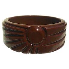 Bakelite  Bangle Bracelet Sunrise Pattern