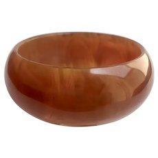 Bakelite  Bangle Bracelet Translucent Transparent