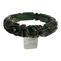 Bakelite Bangle Bracelet  One of the Most Heavily Carved