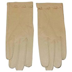 Vintage Soft Kid Leather Gloves