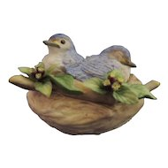 Cybis Porcelain Birds in Nest
