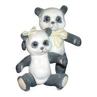 Cybis Porcelain Panda Bears Figurine