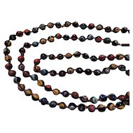 Vintage Murano Millefiori Art Glass Round Bead Necklace
