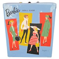 1961 Mattel Barbie Doll Blue Vinyl Ponytail Carrying Case