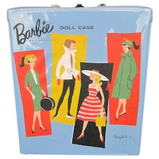1961 Mattel Barbie Doll Blue Vinyl Ponytail Carrying Case