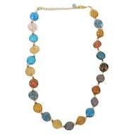 Vintage Multi Colored Art Bead Necklace