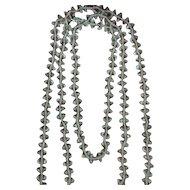"""Vintage 62"""" Aurora Borealis Bicone Crystal Bead Necklace"""