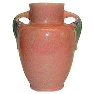 Vintage Roseville Tuscany Pink Handled Pottery Vase