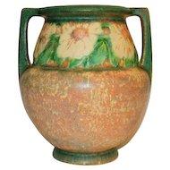 Vintage Roseville Pottery Dahlrose Pattern Vase