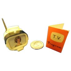 Vintage Tammy Doll Accessory 1960's TV Television and T.V. Program