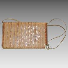 Vintage Anne Klein for Calderon Handbag Purse Reptile Leather with Tags