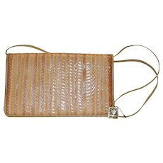 Vintage Anne Klein for Calderon Handbag Purse Reptile Leather with Tags