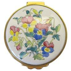 Kingsley Enamels Hand Painted Round Trinket Box