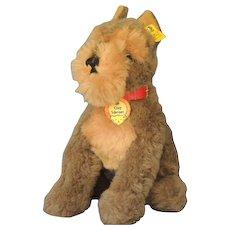 Steiff COSY SCHNAUZ  Schnauzer Dog Plush Vintage Toy with Tags