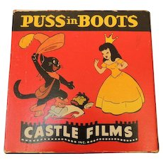 Vintage 8 MM Castle Films Cartoon Movies #762 Puss In Boots