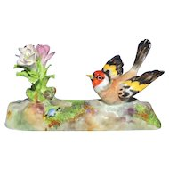 Vintage Crown Staffordshire Bird and Flowers Figurine J.T. Jones Designed
