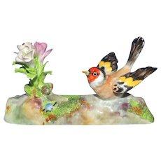 Vintage Crown Staffordshire Bird and Flowers Figurine J.T. Jones Designed