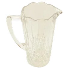 "Small 6"" Cut Glass Pitcher Creamer Barware"