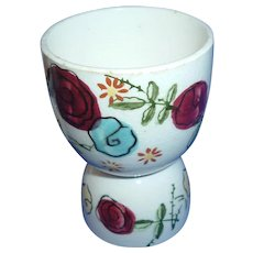 Vintage Egg Cup Holder Japan Hand Painted Floral Set of 2