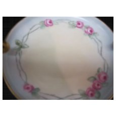 Artist Signed 1913 Porcelain Hand Painted Dish IT UNO Favorite Bavaria