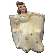 Vintage Florence Ceramics Figurine Flower Holder MAY