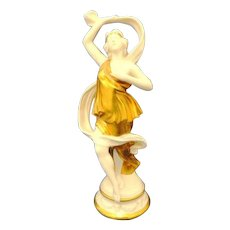 Made In Italy Gold Gilt Goddess Figurine Dancer
