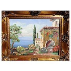 Rare Italian Landscape Oil Painting by Luigi Sandini - Red Tag Sale Item