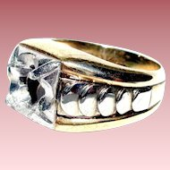 10 K Gold 2-Color Gold Ring (shell) 71/4