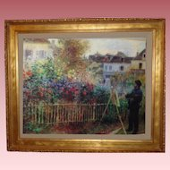 Vintage Monet Painting in the Garden
