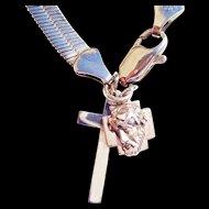 Vintage Sterling Silver Snake Bracelet/2 Sterling Charms