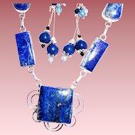 Lapis Lazuli Necklace/Earring Set