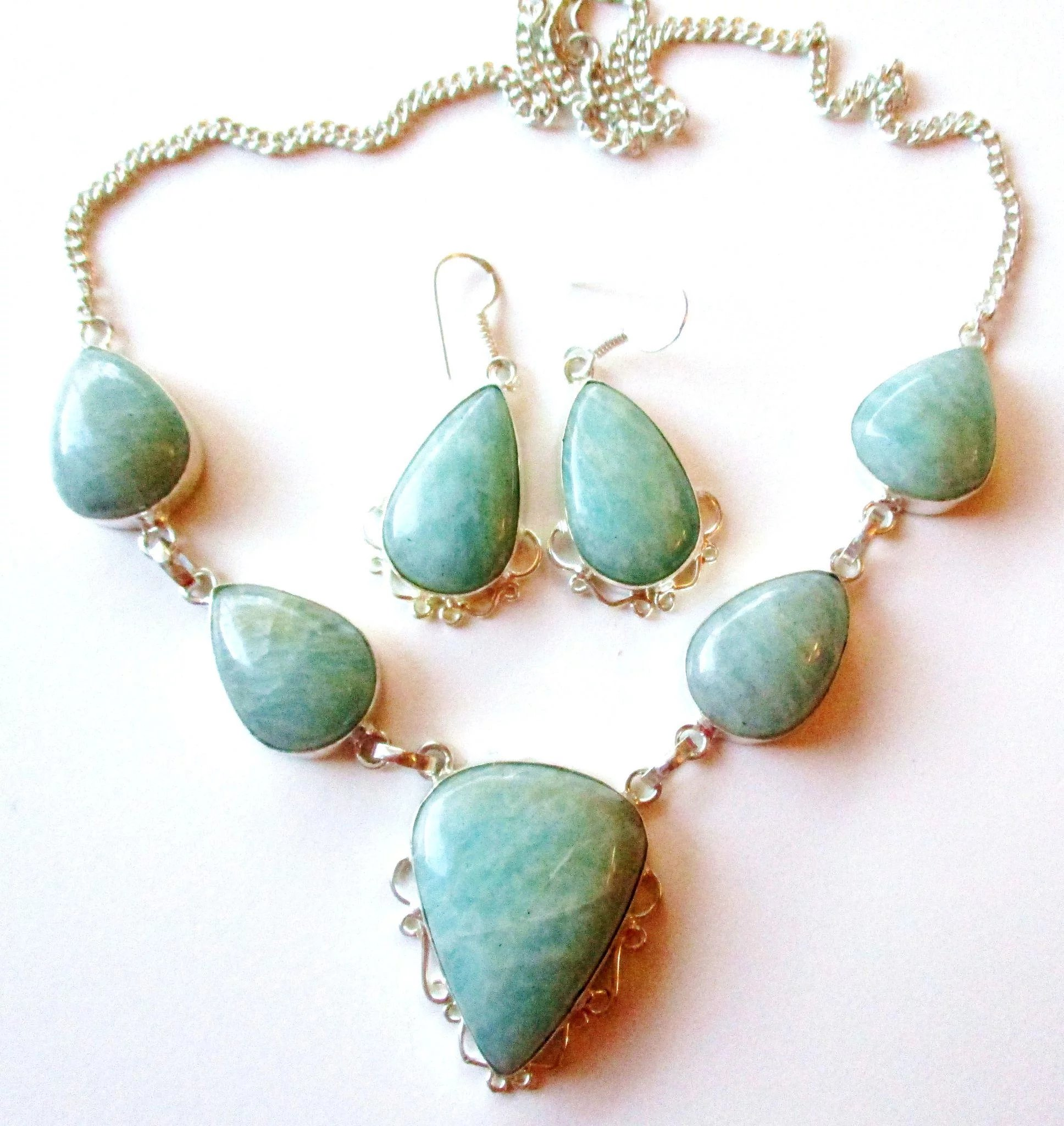 namaste amazonite necklace jewelry products page img