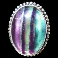 Colorful Fluorite Ring-8 1/2