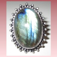 Starburst Framed Labradorite Ring-10