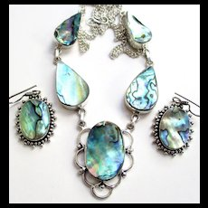 Abalone Necklace/Earring Set