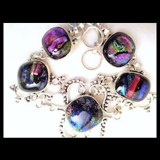 Colorful Dichroic Glass Bracelet