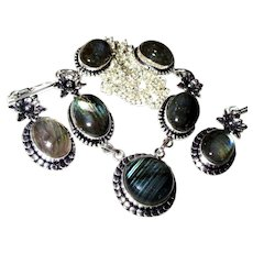 Labradorite Necklace/Earring Set - Red Tag Sale Item