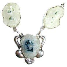 Solar Quartz Druzy's/Moss Agate Necklace