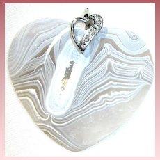 Beautiful Natural Design/Agate Druzy Matte Heart