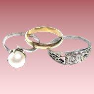 3 Little Vintage Rings