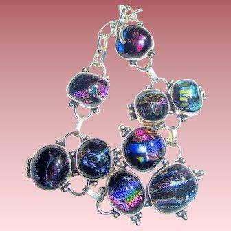 Colorful Dichroic Glass Bracelet