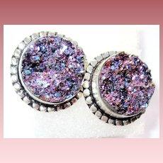 Titanium Druzy Earrings