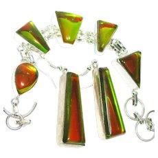 Dichroic Glass Bracelet/Earrings