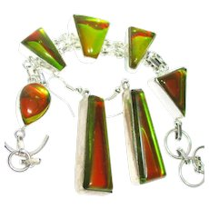 Dichroic Glass Bracelet/Earrings